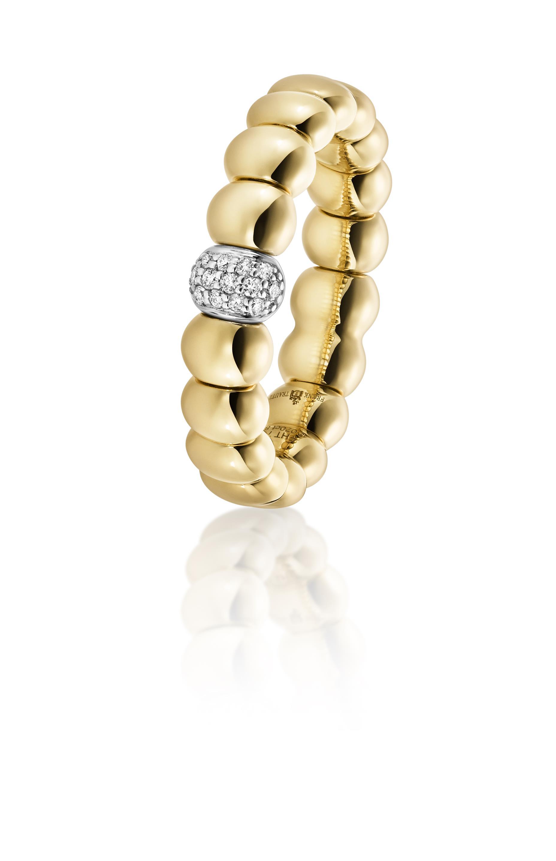 Brillantring 750 | 18 Karat Elfenbein Gold