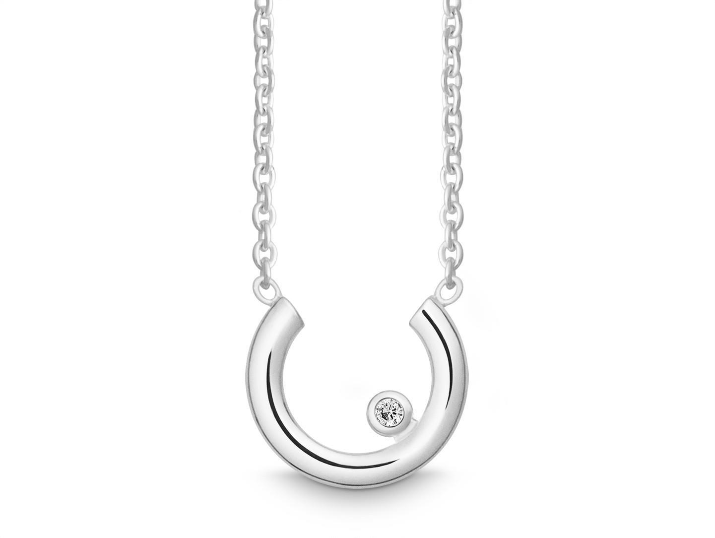 Halskette mit Brillant 925 Silber