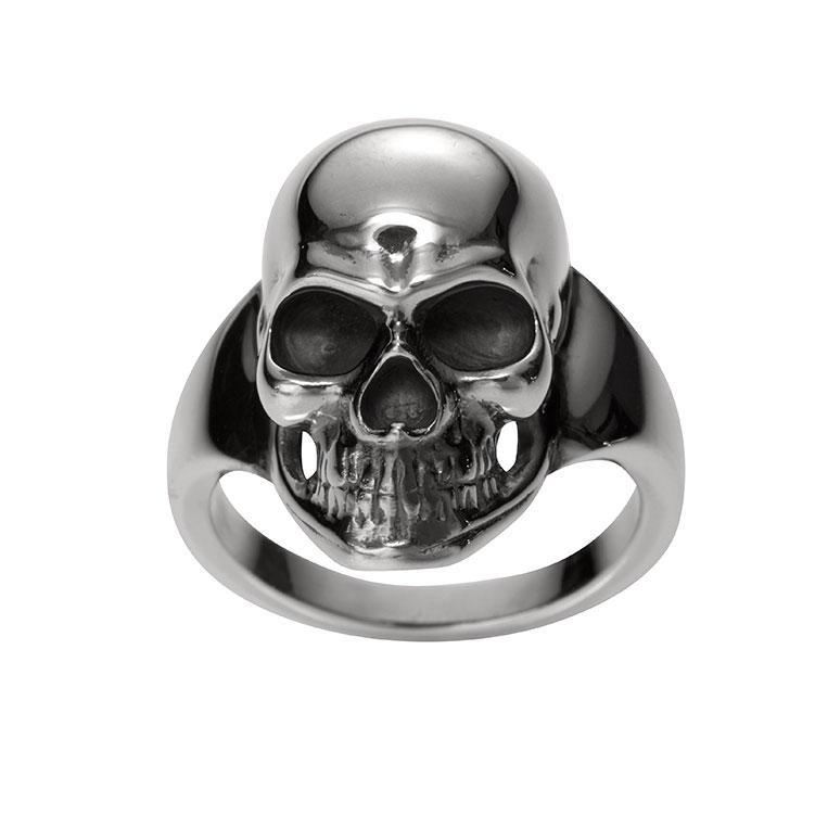Totenkopf Damenring 925