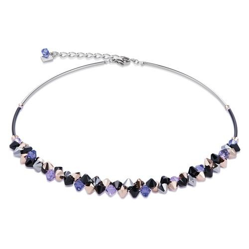 Halskette Kristall lila