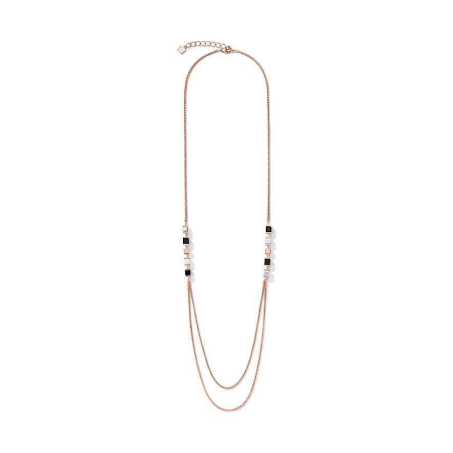 Halskette GeoCUBE® & Kette large schwarz-weiß