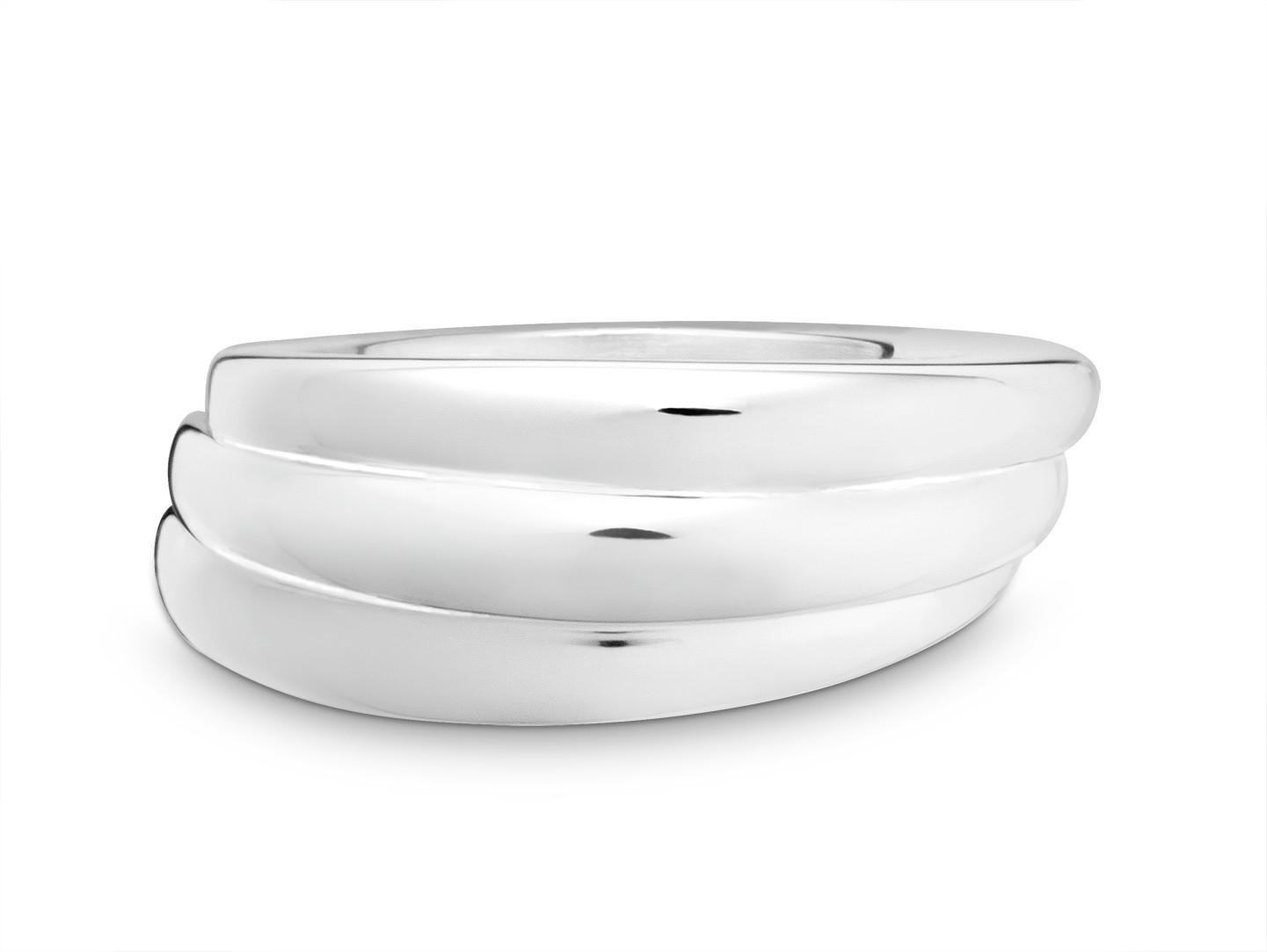 "Ring ""Three Turn"" Silber 925"