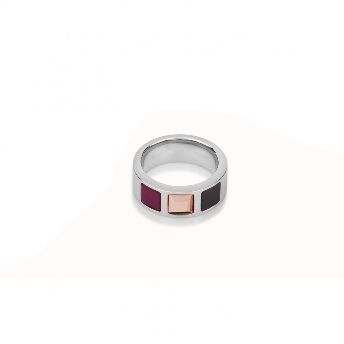 Ring mit Onyx, Polaris und Swarovski® Kristallen