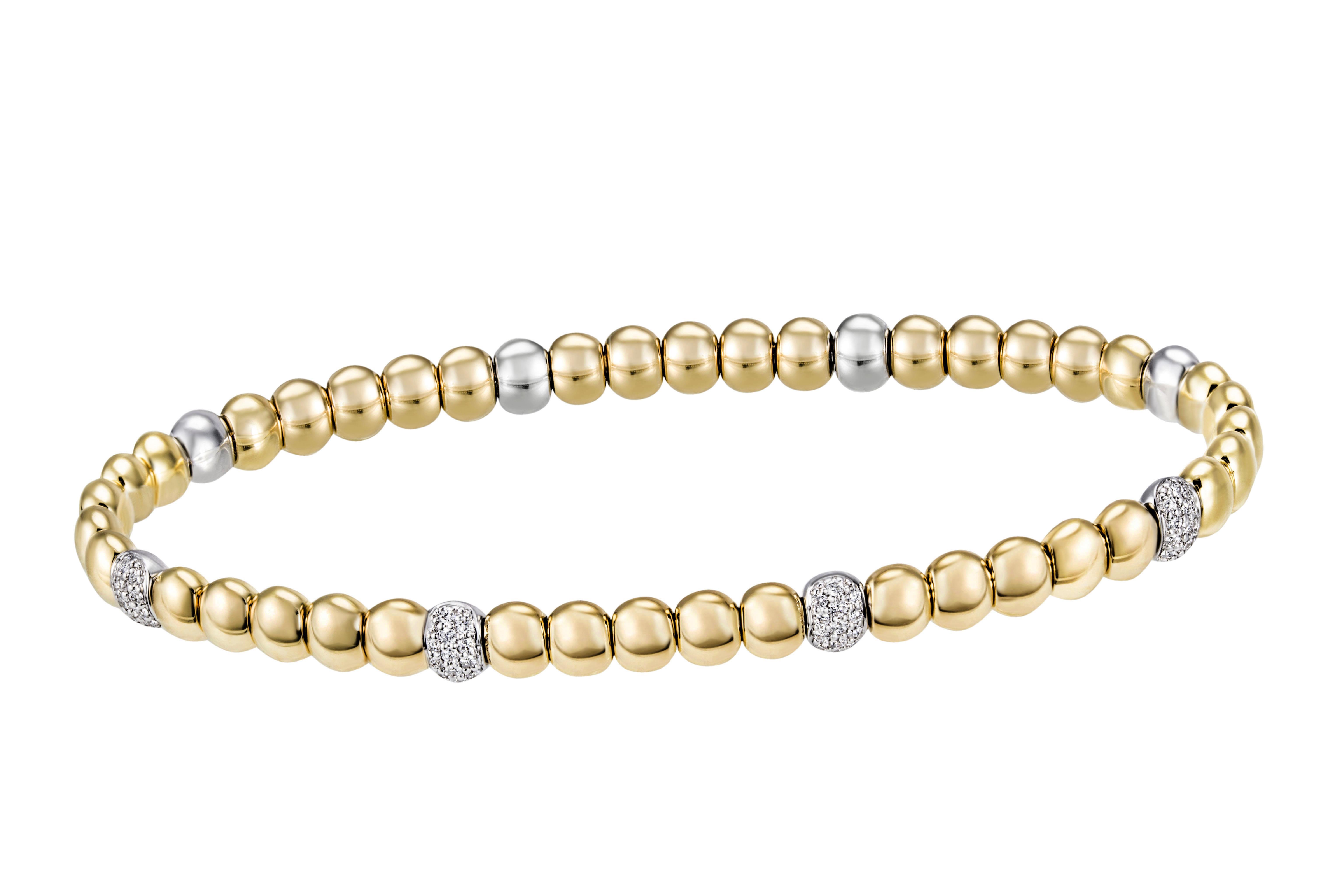 Armband mit Brillanten 750 Gold Bicolor