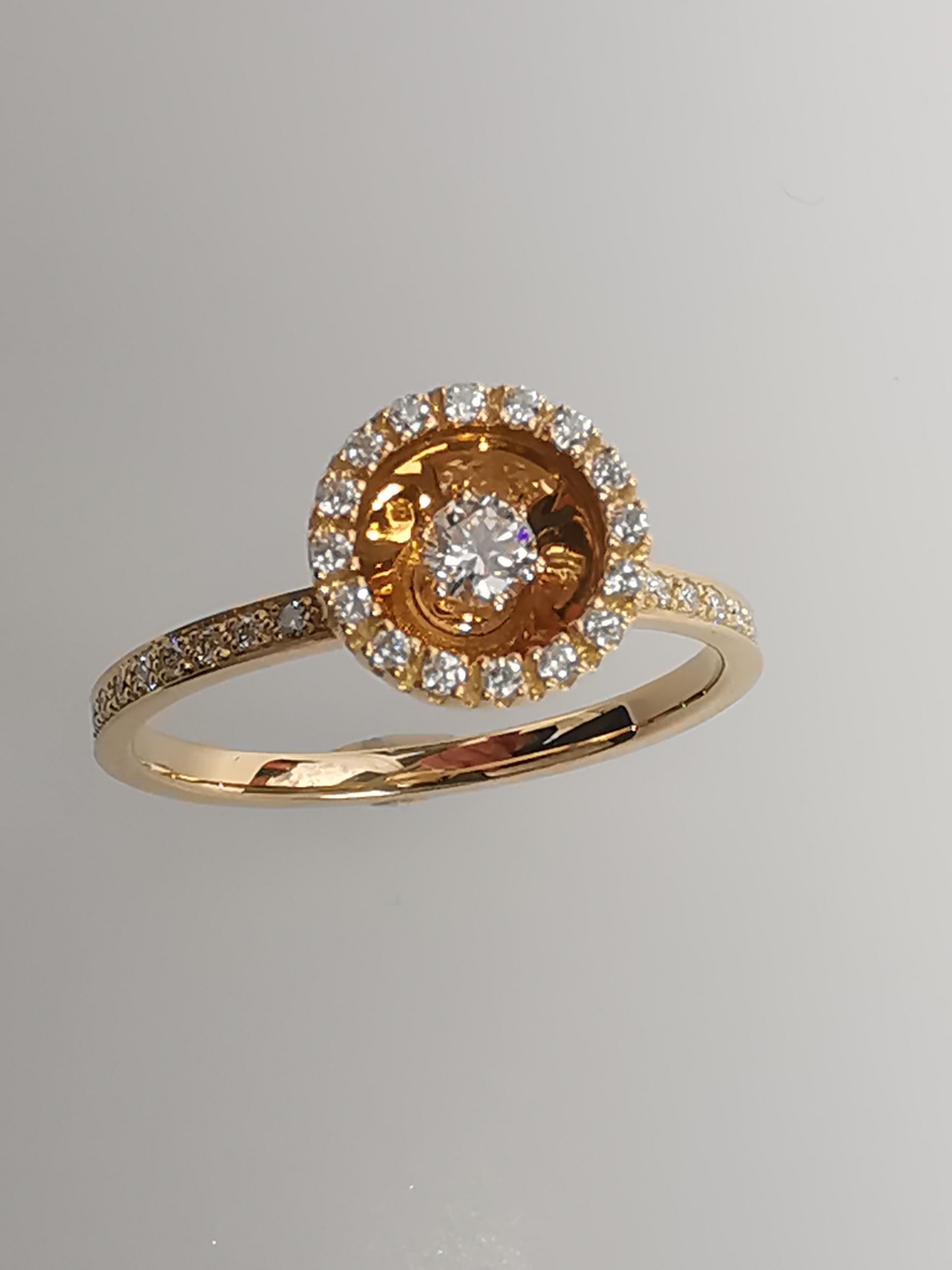 Brillantring 750   18 Karat Gold