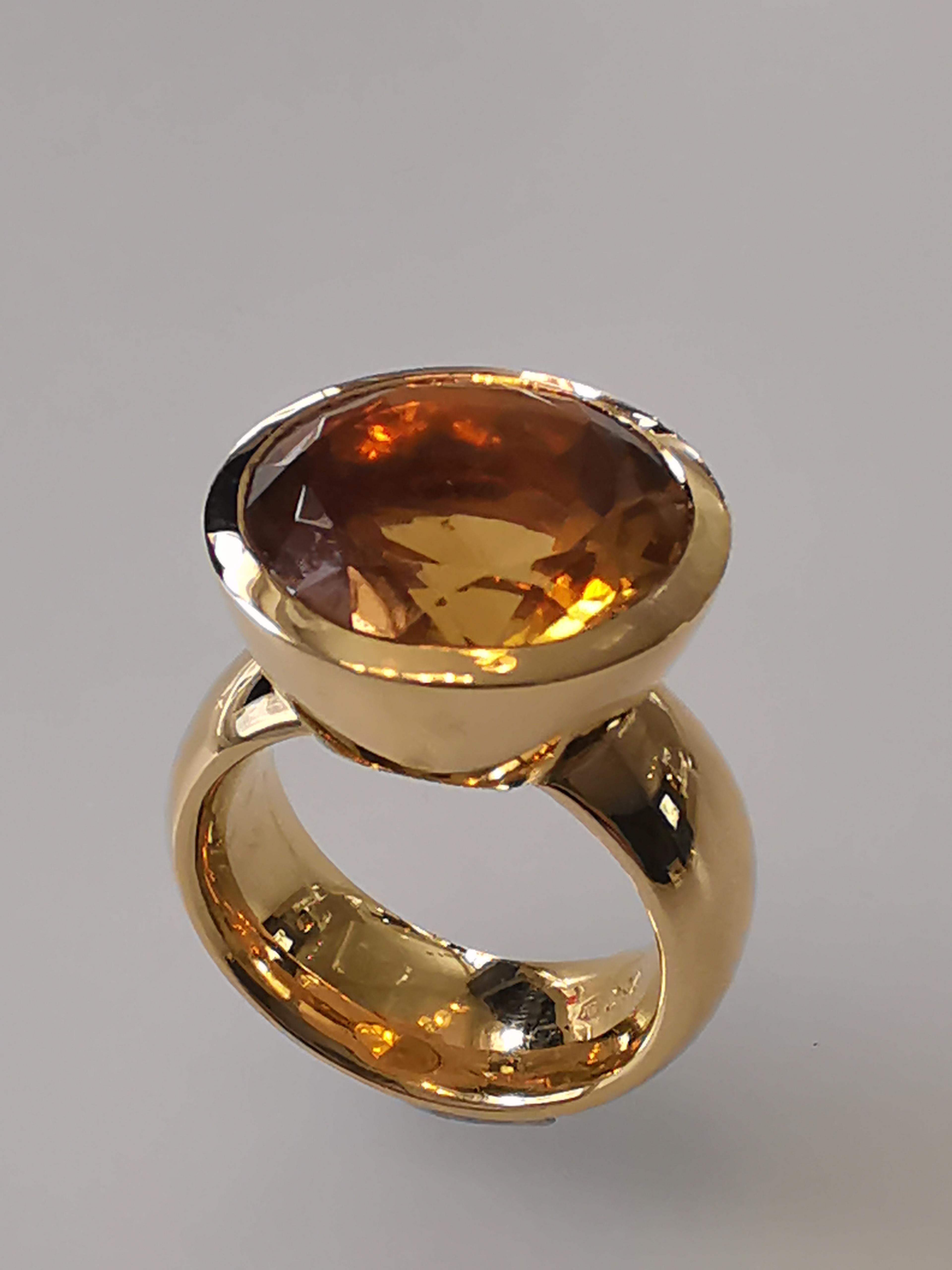 Farbsteinring Gold 750