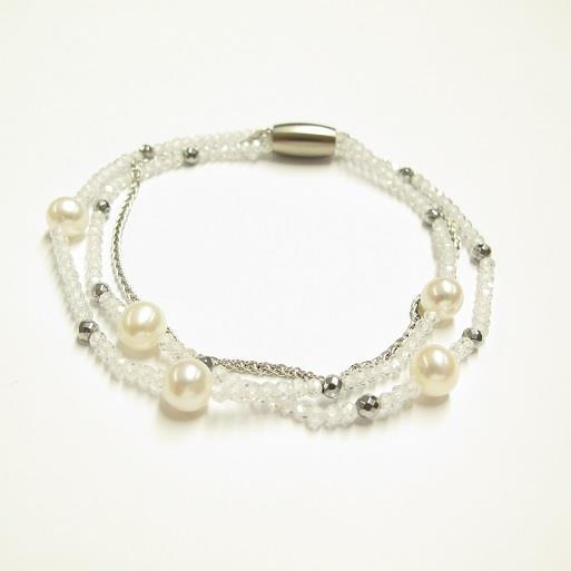 Armband 3-Reihig mit Perlen