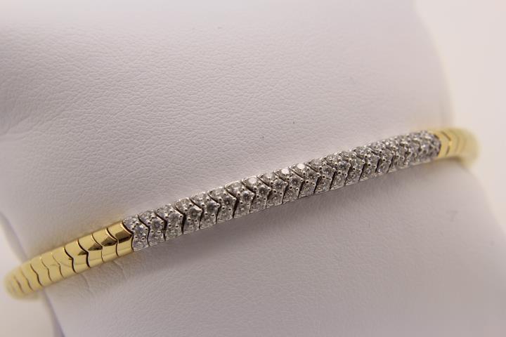 """Magic Stretch"" Armband 750 Gold"