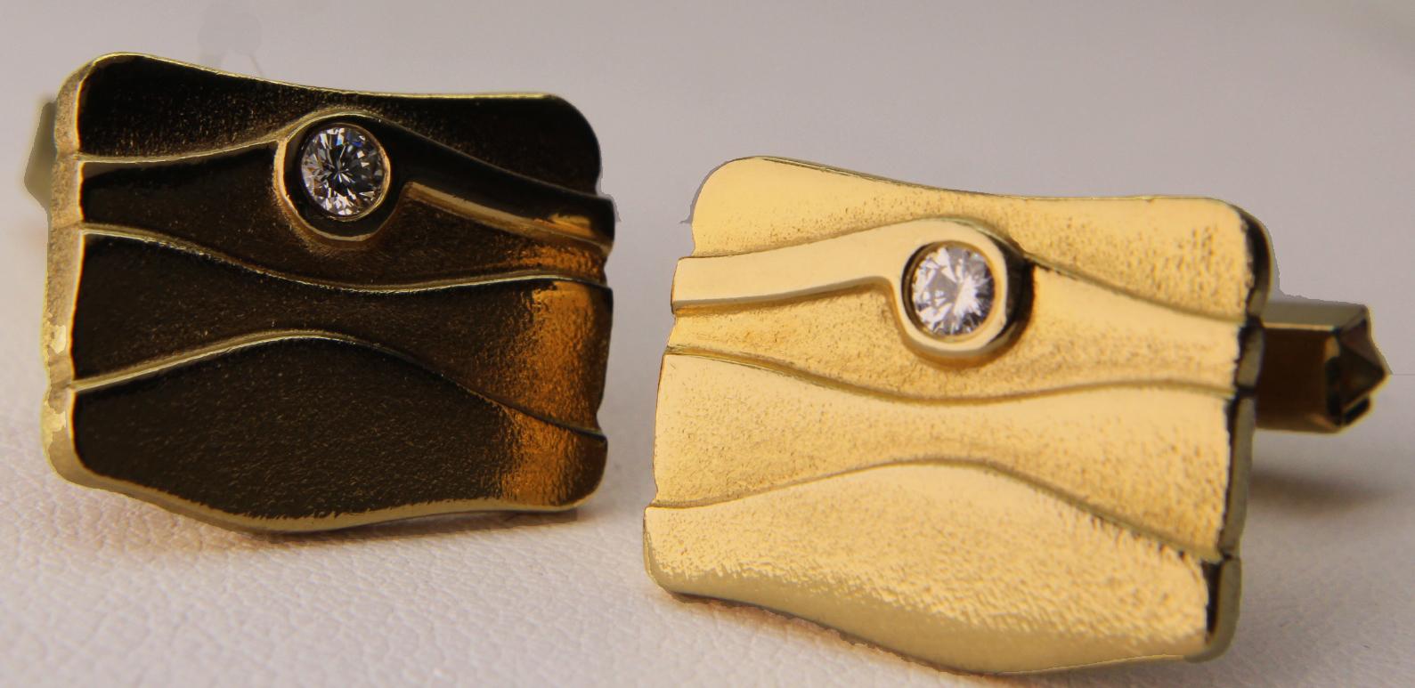 Mannschettenknöpfe Gold 585