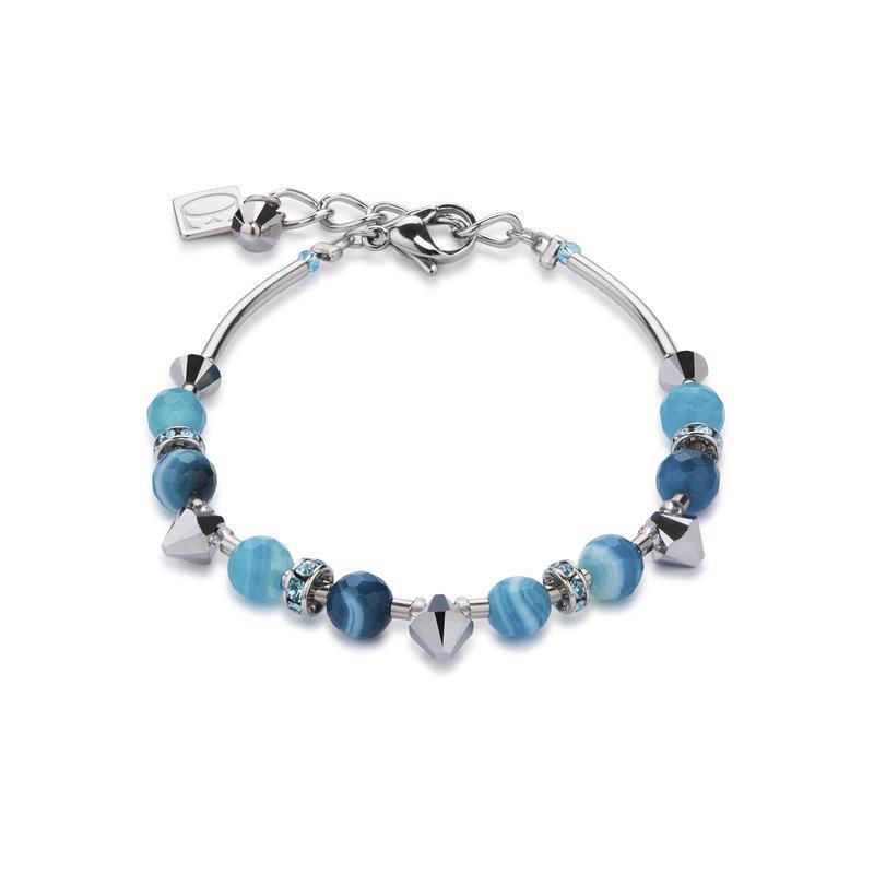 Armband mit Swarovski® Kristalle & Streifenachat