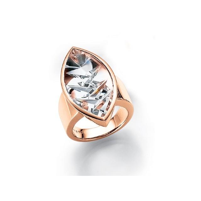 Ring mit geschliffenem Bergkristall
