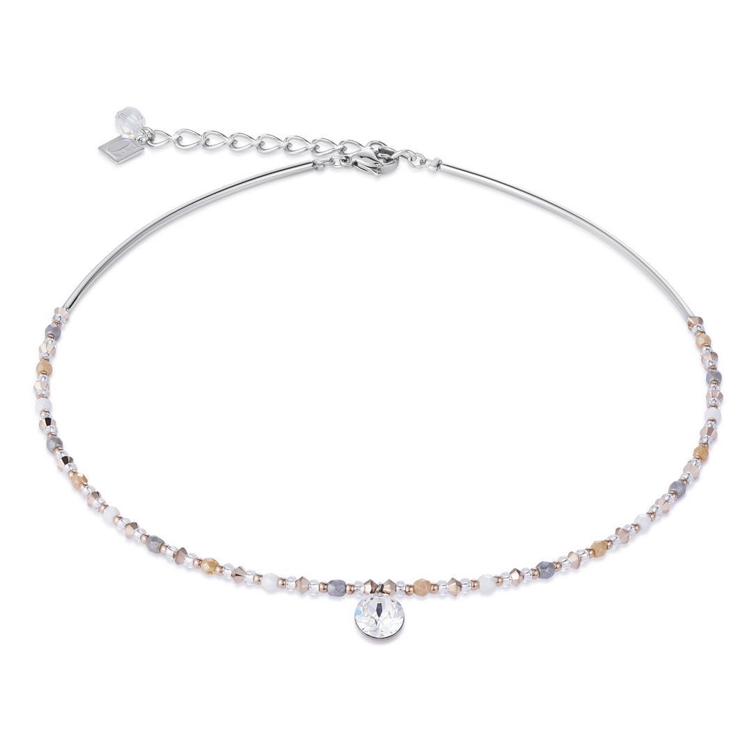 Halskette Swarovski® Kristalle & Edelstahl multico