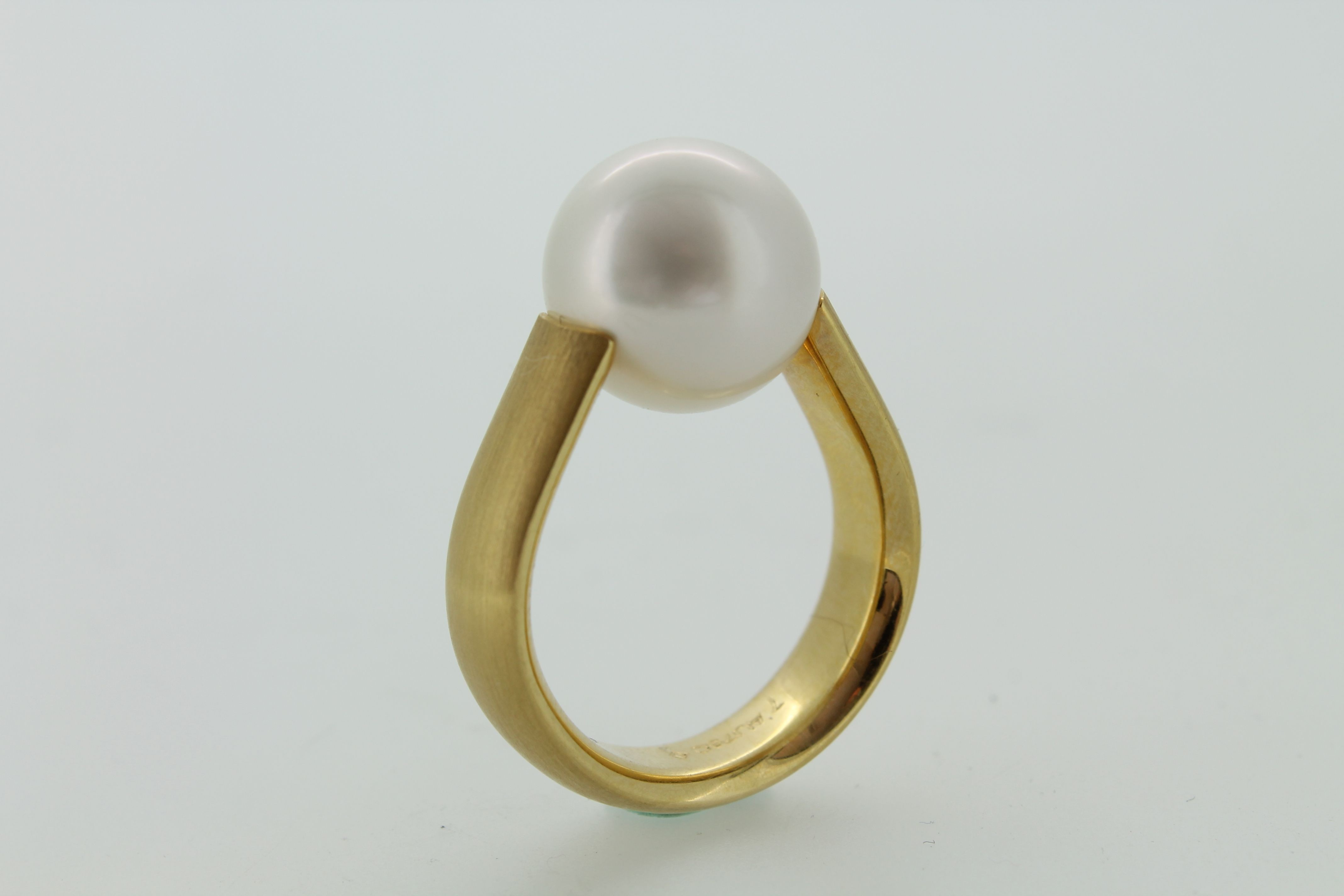 Spannring Perle Gold 750