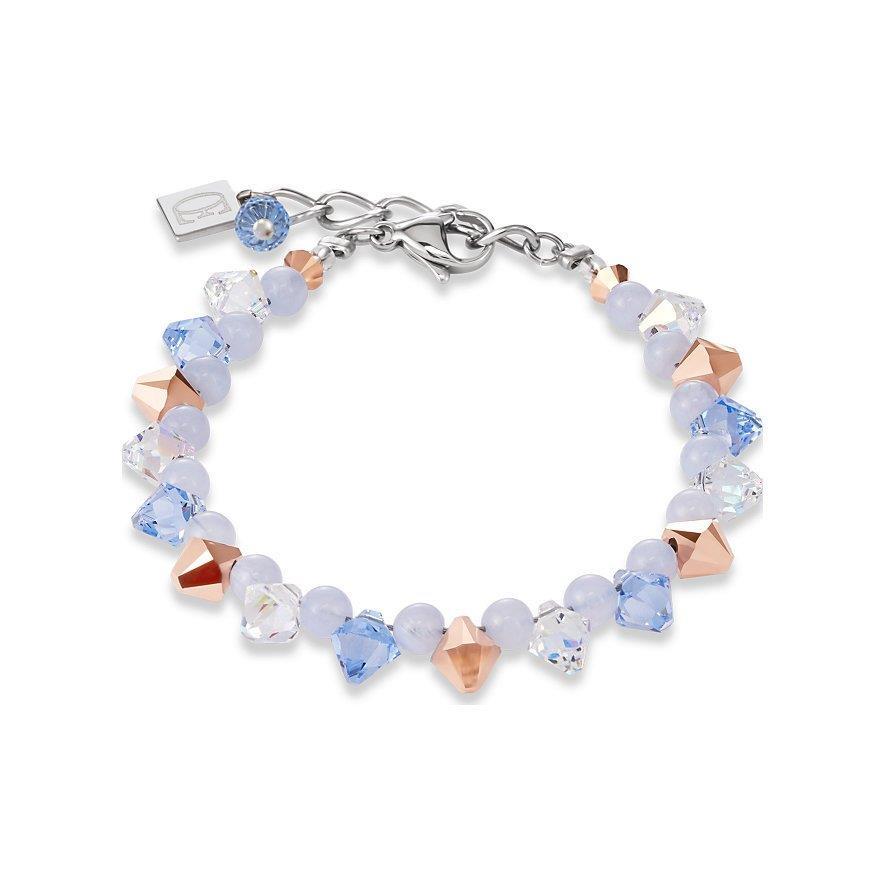 Armband hellblau-rosé mit Swarovski® Kristallen