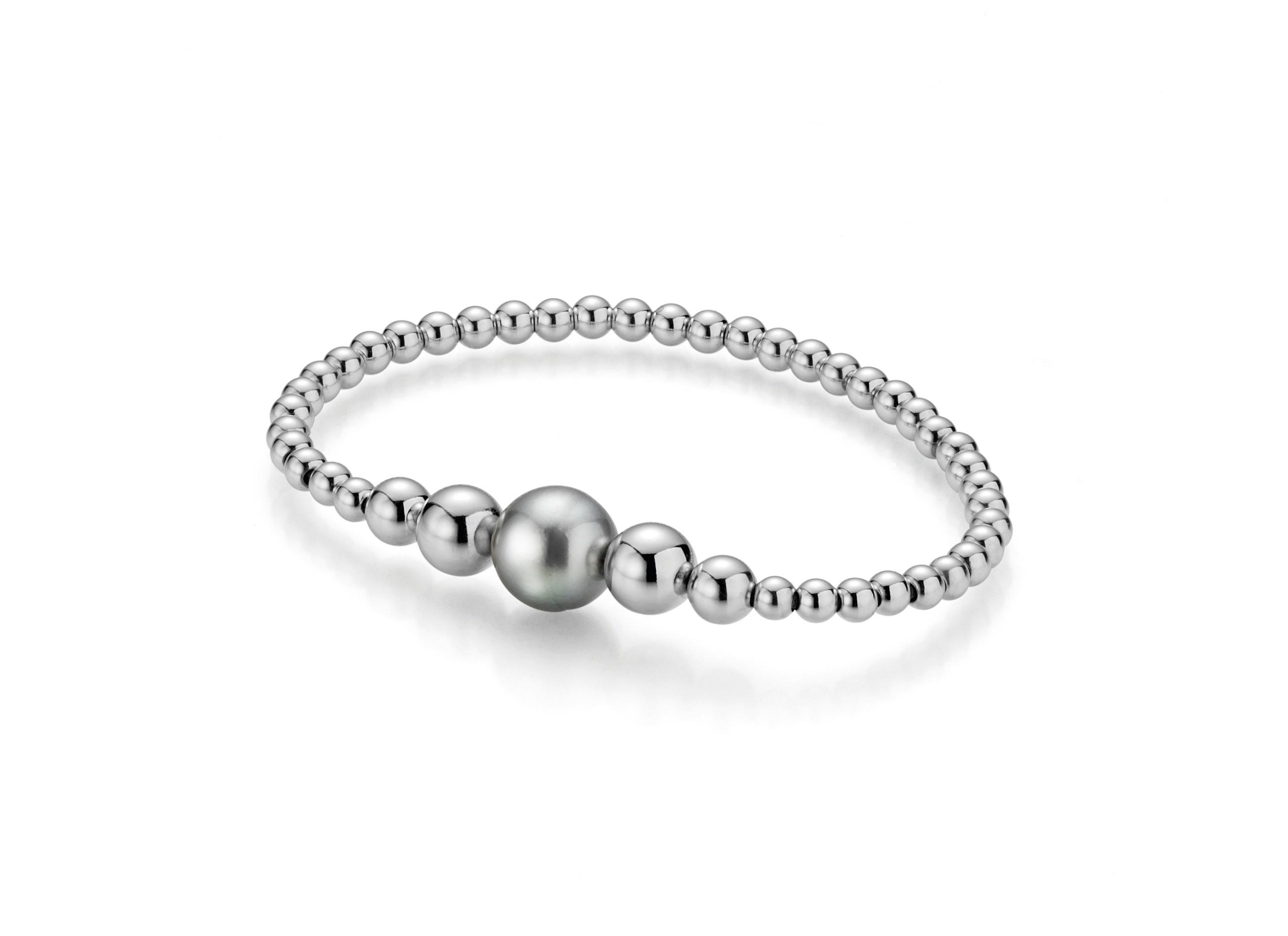 Silberarmband mit Perle Silber