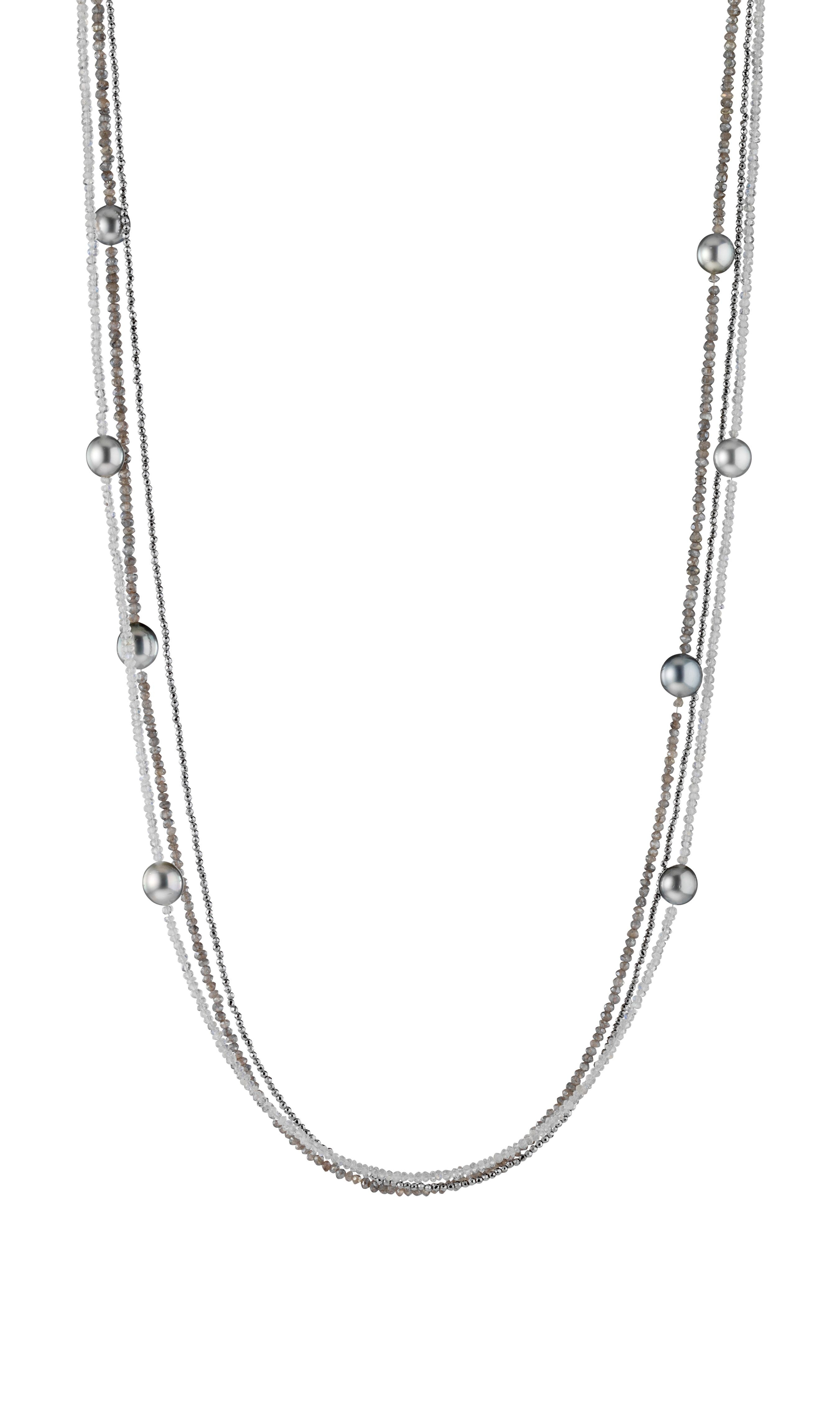 Collier mit Tahiti Silber